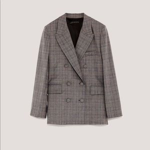 Zara Double Breasted Blazer with Lined Buttons